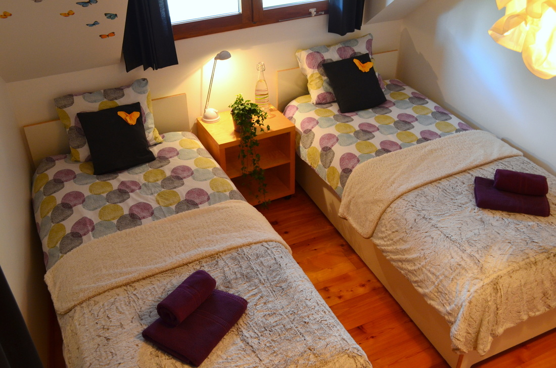 Making the rooms ready for guests in the winter season
