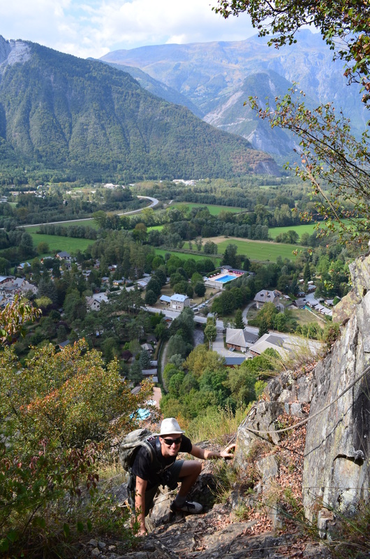 Steep climbing = a quickly nice view of Le Bourg-d'Oisans