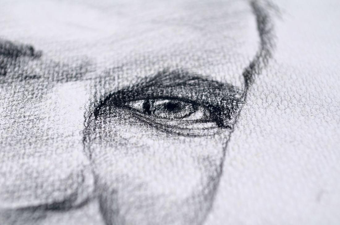 Sneak peak of captivating eyes.