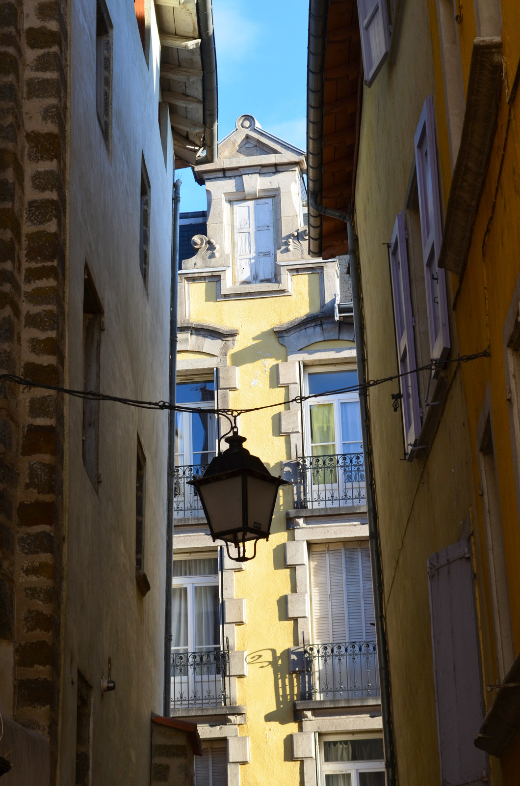 Charming colourful narrow streets