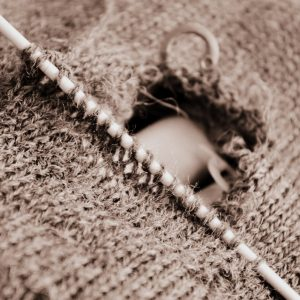 Mending A Knitted Sweater
