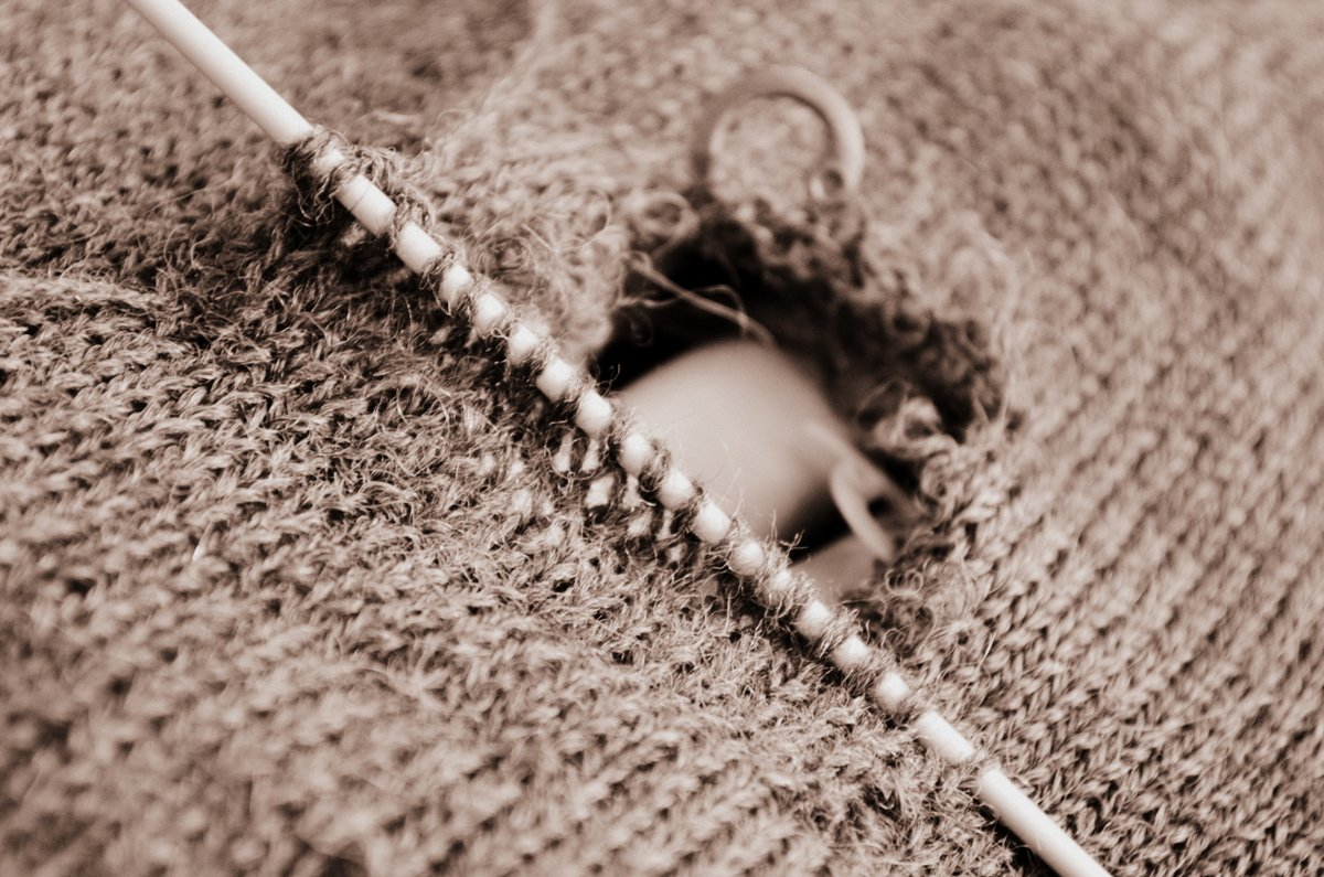 Mending A Knitted Sweater PermAdventure